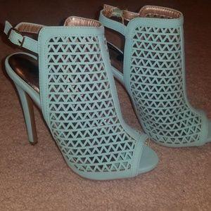 Teal blue Heels